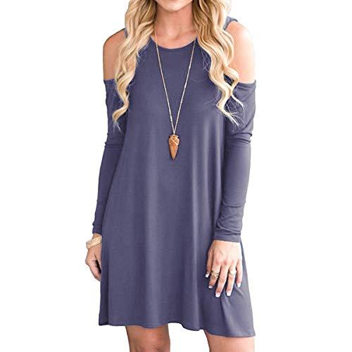 Swimming Purple Grey Cold Icoci Tunic Summer Shoulder T Women's shirt wAqqXz68