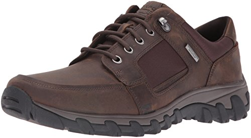 Rockport Men's Cold Springs Plus Lace to Toe Walking Shoe- Dark Brown-7  M