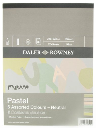 Murano Colored Pastel Paper 9x12 6 Neutral Colors 30 Sheet Pad