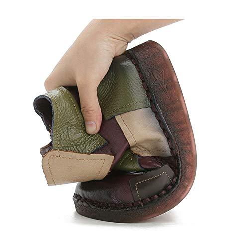 Stivaletti Piatta Comoda Chelsea Caviglia Cinturino In Con Alla E Donna Casual Pelle Da A Per AUwAx