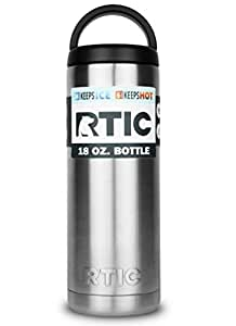 RTIC 18oz Bottle are stainless steel, double wall vacuum insulated by RTIC