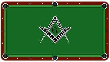 Free Mason gamuza de billar mesa de billar fieltro, 9ft: Amazon.es: Deportes y aire libre