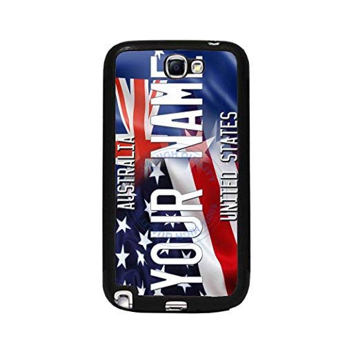 (BRGiftShop Personalize Your Own Mixed USA and Australia Flag Rubber Phone Case For Samsung Galaxy J3 2017)