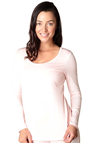 Faceplant Dreams Dreamwear Bamboo Long Sleeve Shirt (Small, Pink)