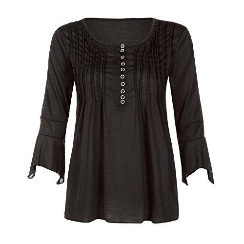 a Blouse Chemisier Chic 4 Guesspower T Classique Shirt 3 Manches Longues Chemisier Femmes Top Noir Haut Femme Mode Tops Casual Lache Manches 1wqxaZdw
