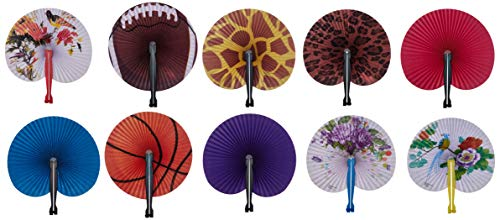 Rhode Island Novelty 097138731548 Folding Fan Assortment (4 -