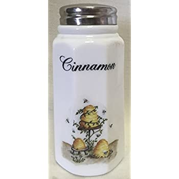 Paneled Sugar Shaker Cinnamon, Milk American Made Mosser Glass Roses
