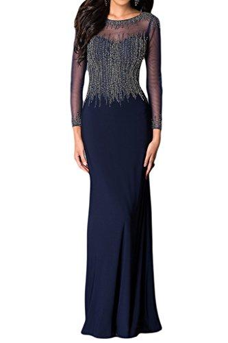 Missdressy - Vestido - trapecio - para mujer Azul Marino