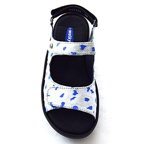 Wolky Sandaler Til Kvinder 92128 Antik Hvid-blå TWQxhEagZ