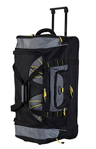 "Travelers Club 36"" Sierra Madre II 2-Section Drop-Bottom Rolling Travel Duffel Luggage"