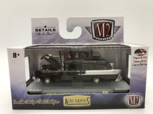 M2 Machines Auto-Thentics 1 of 6800 Worldwide 1957 Chevrolet 150 Handyman Station Wagon R39 16-25 Black Details Like NO Other! Over 42 Parts (Best Affordable Station Wagons)