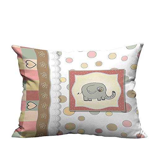 YouXianHome Print Bed Pillowcases Vintage Romantic Compositi Playful Kids Drawing He Multicolor Washable and Hypoallergenic(Double-Sided Printing) 27.5x27.5 inch