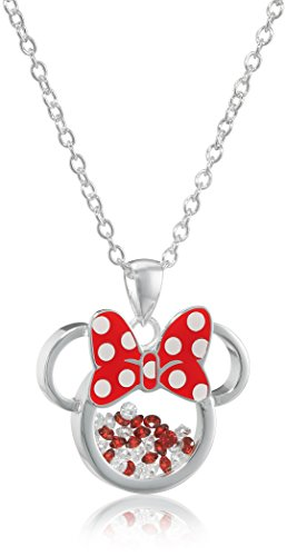 Minnie Mouse Shaker Pendant Necklace