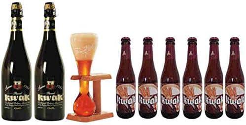 Pack Kwak 2 cervezas x 75 cl + 6 cervezas 33 cl+ copa Original: Amazon.es: Alimentación y bebidas