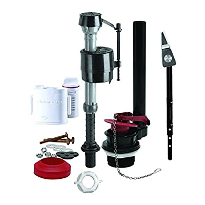 Fluidmaster 400AFS Complete Toilet Repair Kit with Flush 'N Sparkle Cleaning System