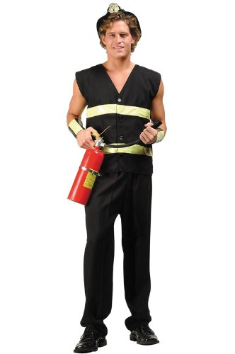 RG Costumes Men's Fire Fighter Costume, Plus Size ()