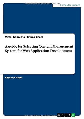 A guide for Selecting Content Management System for Web Application Development pdf