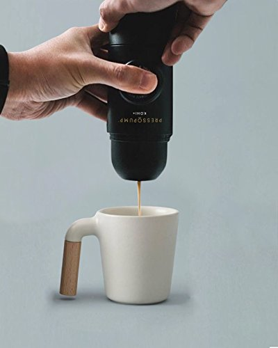 Semi-Auto Handheld Travel Espresso Coffee Maker by Pressopump. Portable, Compact & Lightweight. Made from Durable, Premium, Food-Safe Materials. Great for Commuting, Camping, Picnics, Home & Work