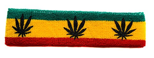 Una Reggae Jamaica Cabello frica Tenis Rasta Esponja Cannabis diadema 4ZBrq4