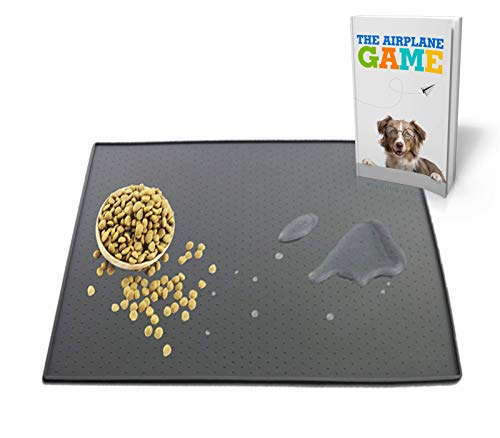 TechDutch Wild Dog Food Mat – Dog Feeding Waterproof Mat and Pad – Made of Silicone Non-Slip Mat for Dog and Cat Bowl – FDA Grade Material – Pet Food Mat (X-Large)