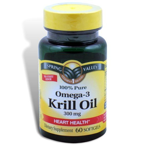 Spring Valley - Huile de Krill, Omega-3 300 mg, 60 gélules