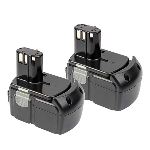 VANON 4000mAh 18V Li-ion Rechargeable Replacement Battery for Hitachi EBM1830 BCL1815 DS18DFLG DS18DL (2 Pack)