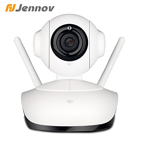 Jennov Wireless WiFi IP Security Camera HD 1080P Home Surveillance System Indoor For Baby Pet Monitor With MicroSD Card Slot, IR Night Vision, Two Way Audio, Two Antenna, Motion Detection