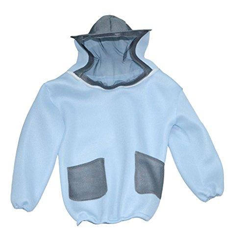 Dovewill Beekeeper Beekeeping Protective Veil Suit Dress Jacket Smock Bee Hat Blue & Gray