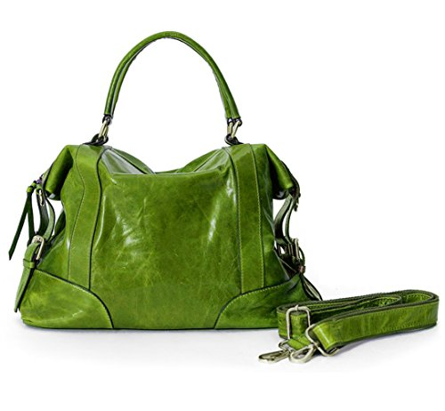 Cowhide Women's Hobo Poet Satchel Kiwi Bag Shoulder La Waxed St4Fq1w