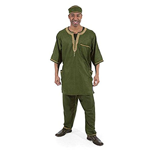 Men's Luxury Pant Set: Olive Plus by utopia africa