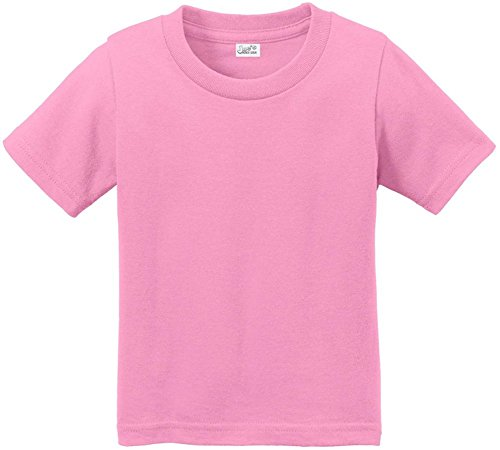 Joe's USA(tm Toddler Tees Soft and Cozy Cotton T-Shirt Size-3T,Candy Pink