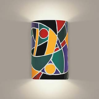 product image for A19 Picasso Wall Sconce, 4-Inch by 6-Inch by 9.5-Inch, Multicolor