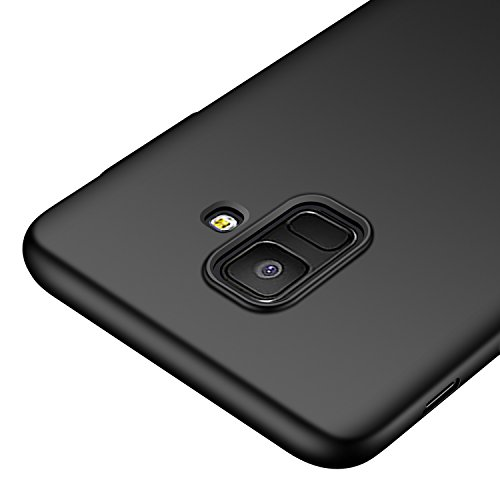 Galaxy A6 Case,kqimi [Ultra-Thin] Premium Material Slim Full Protection Cover for Samsung Galaxy A6 2018 (Black)