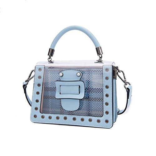 Las Liu color Handbag Transparente Personalidad La Blue Paquete Pu Hombro Jalea Blue Creativa Crossbody Bolso Mujeres De Casual Wild Yu·casa aqr8Ta
