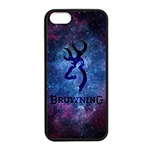 Browning Camo Deer Nebula for iPhone 5 5s Case Cover 038695 Rubber Sides Shockproof Protection with Laser Technology Printing Matte Result by ruishername