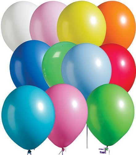OrangeTag Assorted Bright Tone Latex Balloons Package of 100 ()