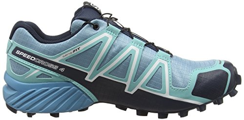 Salomon Speedcross 4 Cs, Zapatillas de Running para Asfalto para Mujer Azul (Blue Gum/bubble blue/deep BLUE)