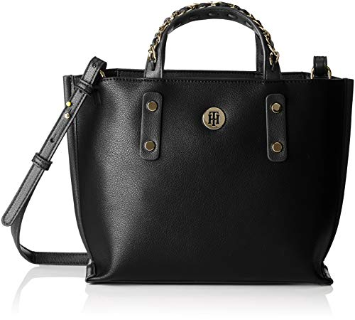 Small Women's Chain Hilfiger Tote Tommy Black waBq7cS