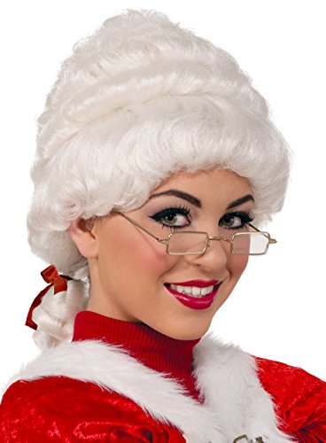 Forum Novelties Women's Deluxe Mrs. Claus Wig, White, One Size