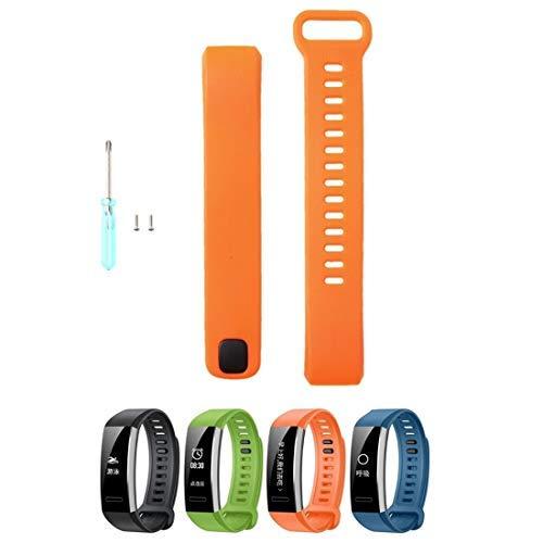 Correa de Silicona Compatible con Huawei Band 2/Band 2 Pro Smart Watch, Baiomawzh Pulsera Ajustable de Repuesto