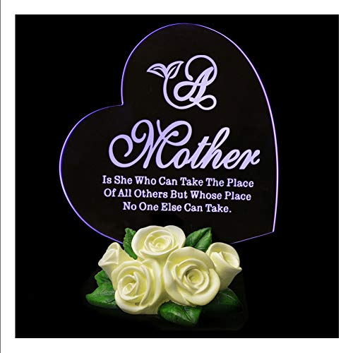 - Heart Shape LED Light Love Gifts for Mom Mother's Day Anniversary Birthday Present, Color Changing