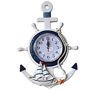 411%2BKehTDXL._SS300_ Nautical Themed Clocks