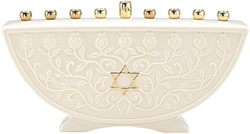 Lenox Judaic Blessings Menorah (Family Menorah)