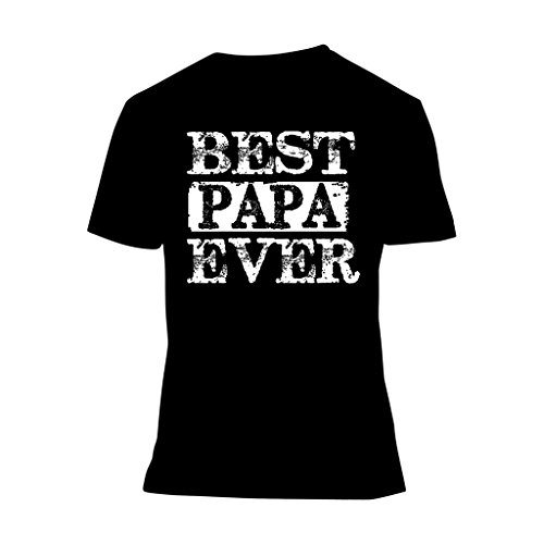 fresh tees Best Papa Ever T-Shirt Father's Day Shirt Papa Tshirt Gifts For Grandpa Father Day Gift (XXXX-Large, Black)