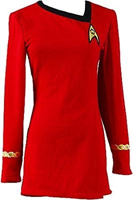 CosplaySky Star Trek Dress Costume The Female Red Duty Uniform