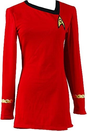 Uniform Costumes (CosplaySky Star Trek Dress Costume The Female Red Duty Uniform Medium)
