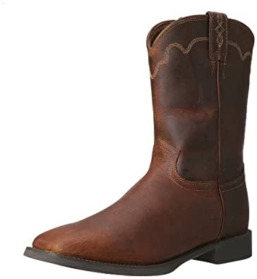 Amazon Com Justin Boots Men S Stampede Ropers Rugged