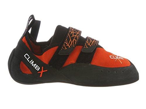 Climb X Rave Climbing Shoe with Free Climbing DVD ($30 Value) (Men's 8.5, Orange)