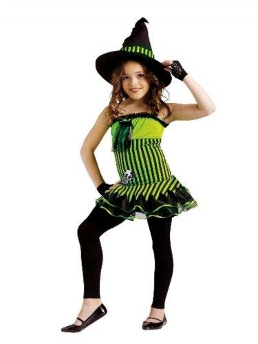 [Fun World Girls Rockin Witch Costume & Hat M (8-10)] (Girls Rockin Witch Costumes)