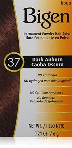 HOYU Bigen Hair Color Powder, No. 37 Dark Auburn, 0.21 Ounce